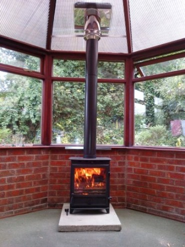 Fitting wood burning stoves in a conservatory |Installing a wood